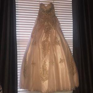 Juniors Rhinestone Gown